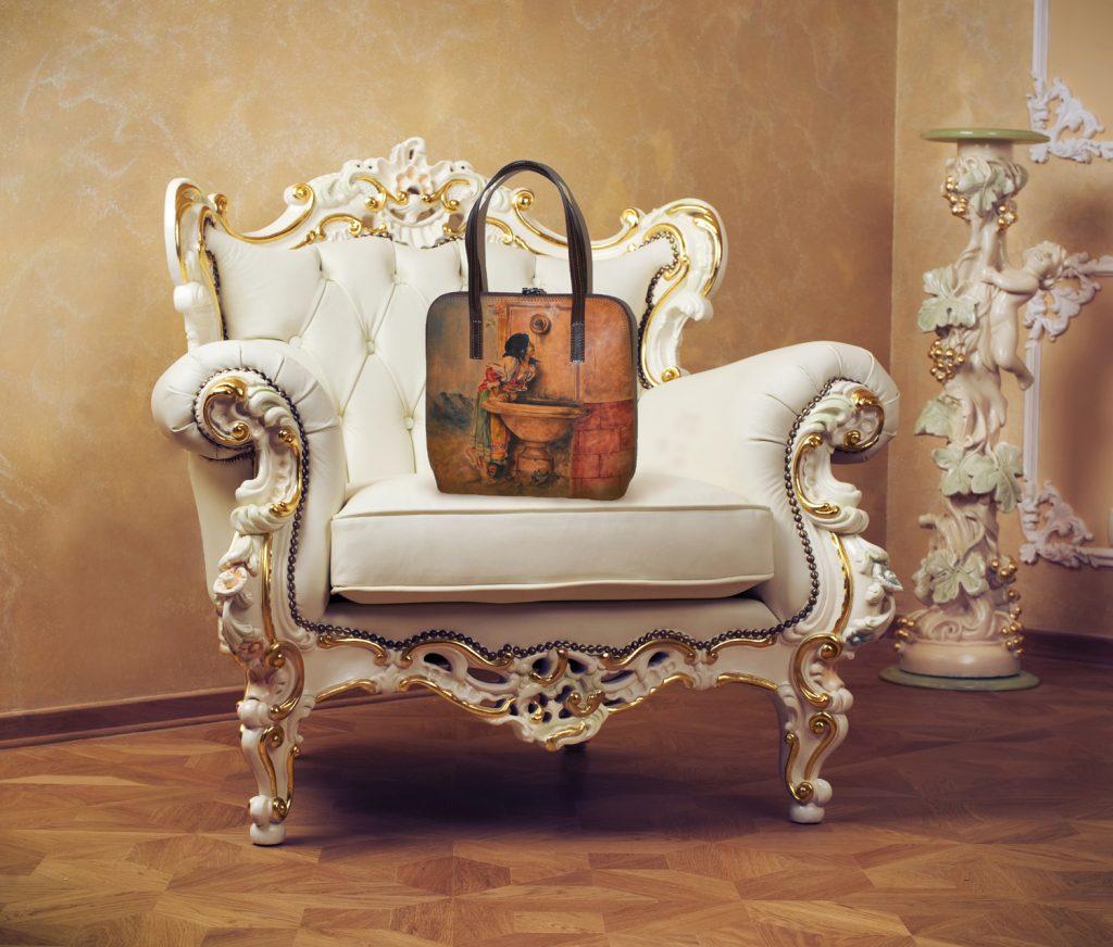 malovane kabelky, malba na kozu