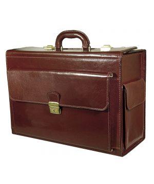 Cestovný kufor č.8174 bez mechaniky v tmavo hnedej farbe