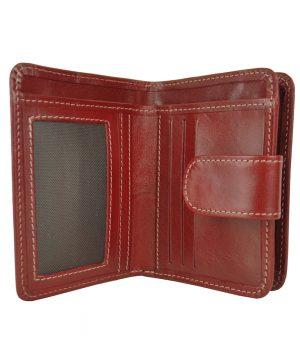 Dámska malá kožená peňaženka č.8504 v bordovej farbe