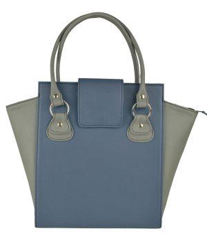Kožená luxusná kabelka č.8644 v modro šedej farbe