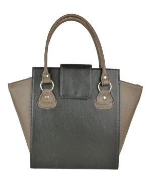 Kožená luxusná kabelka č.8644 v čierno hnedej farbe