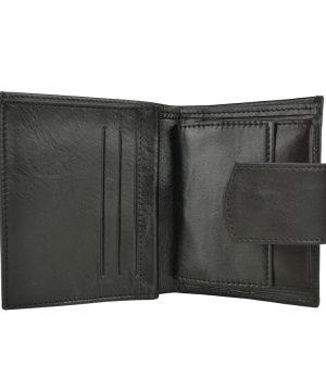 Dámska malá praktická kožená peňaženka č.8448 v čiernej farbe.