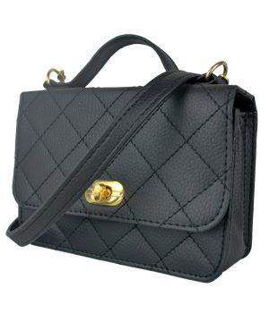 Dámska štýlová kabelka crossbody 8679 v čiernej farbe.