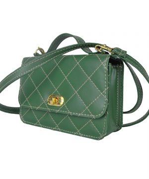 Dámska štýlová kabelka crossbody 8679 v zelenej farbe.