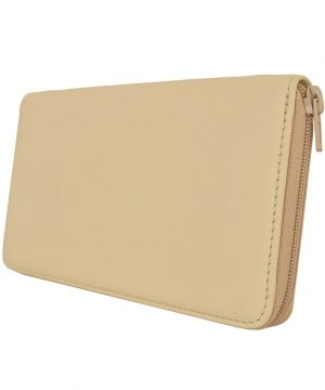 Dámska kožená peňaženka č.8606 v béžovej farbe