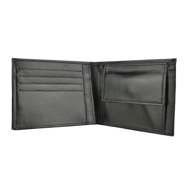 Elegantná peňaženka z pravej kože č.8408 v čiernej farbe