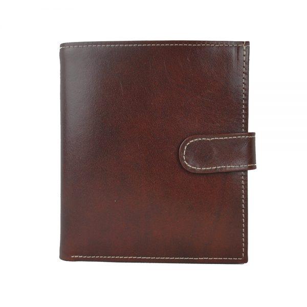 Exkluzívna kožená peňaženka č.8333 v tmavo hnedej farbe