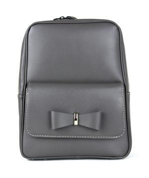 Exkluzívny kožený ruksak z pravej hovädzej kože č.8666 v šedej farbe