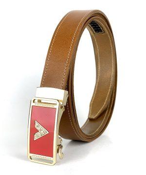 Dámsky kožený opasok s automatickým zapínaním RED VENDETA