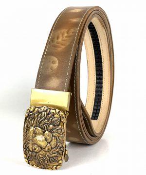 Kožený opasok s automatickým zapínaním GOLD LION - LIMITED