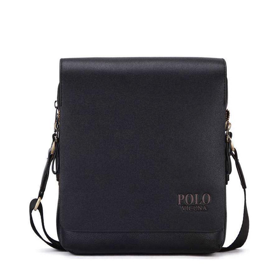 ca3c676db 38.90 € s DPH. Kožená biznis taška cez rameno POLO SMALL v čiernej farbe.