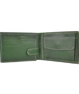 Kožená peňaženka č.8552 ručne tieňovaná v zelenej farbe