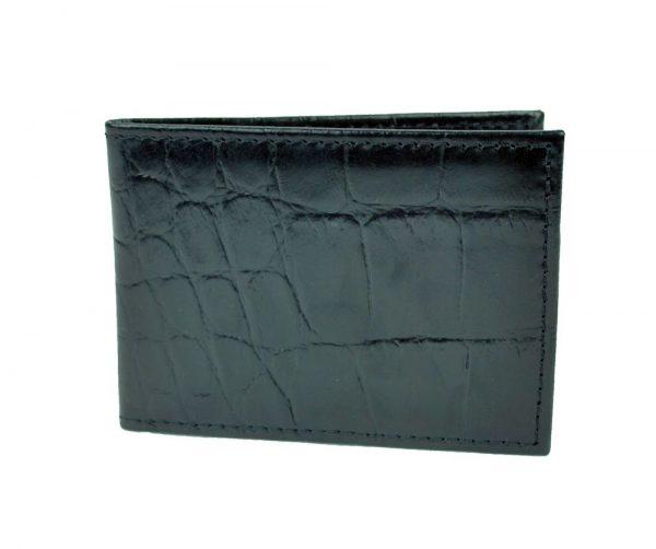 Kožené púzdro na karty a vizitky, hadina v čiernej farbe