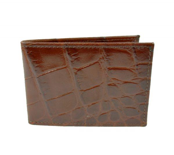 Kožené púzdro na karty a vizitky, hnedá lesklá hadina