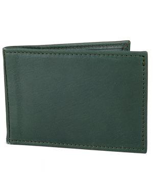 Kožené púzdro na karty a vizitky v tmavo zelenej farbe