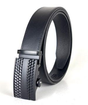 Kožený opasok s automatickým zapínaním BLACK CUBES