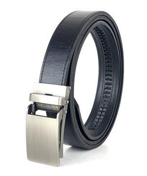 Kožený opasok s automatickým zapínaním NICKEL, 3cm, čierna farba