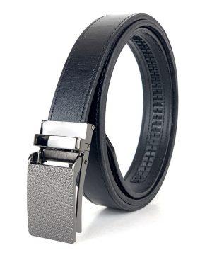 Kožený opasok s automatickým zapínaním TITAN, 3cm, čierna farba