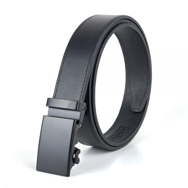 Kožený opasok s automatickým zapínaním BLACK SIMPLE