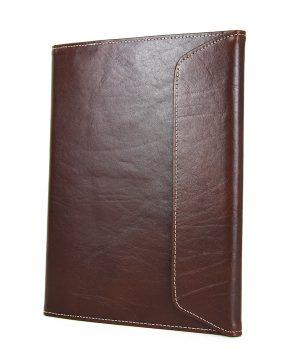 Kožený pracovný zápisník A5 v tmavo hnedej farbe