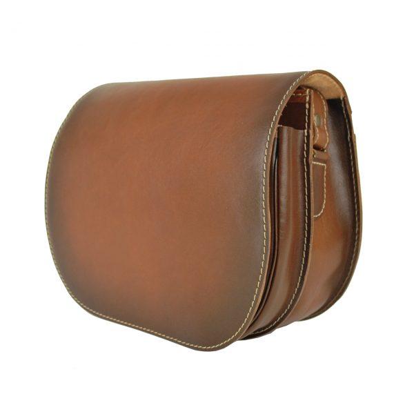 Luxusná kožená kabelka svetlo hnedá. Crossbody kabelky (cez prsia)sú menšie kabelky s dlhším nastaviteľným popruhom,
