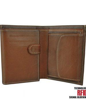 Kožená RFID peňaženka v cigaro farbe č.8560