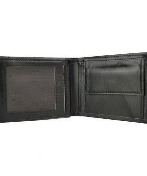 Luxusná peňaženka z pravej kože č.8407 v čiernej farbe.