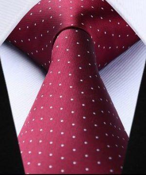 Luxusný pánsky kravatový set – kravata + vreckovka v bordovom štýle
