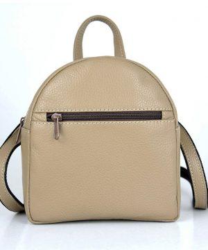 Mini kožený ruksak z pravej kože č.8748 v hnedej farbe