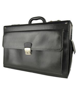 Celokožený kufor s veľkým úložným priestorom, určený na cestovanie, aj ako príručná batožina do lietadla. Vhodný pre pánov aj pre dámy.
