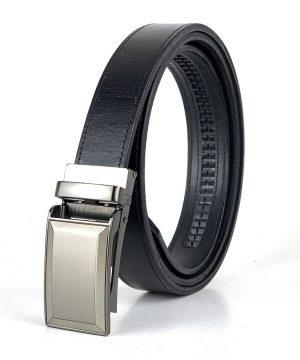 Kožený opasok s automatickým zapínaním BUSINESS, 3cm, čierna farba