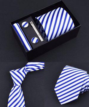 Pánsky set – kravata + vreckovka + manžetové gombíky + spona na kravatu, model_02