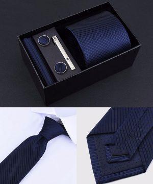 Pánsky set – kravata + vreckovka + manžetové gombíky + spona na kravatu, model_03