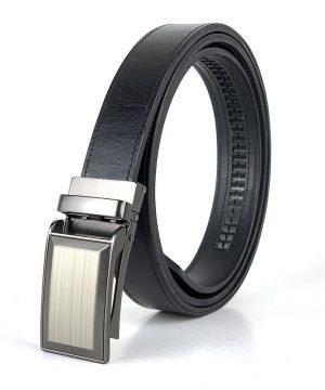 Kožený opasok s automatickým zapínaním BUSINESS_2, 3cm, čierna farba