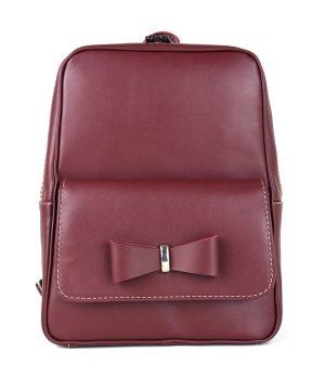 Exkluzívny kožený ruksak z pravej hovädzej kože č.8666 v bordovej farbe